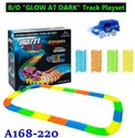 A168-220 B/o Glow And Dark Track Play Set Toy
