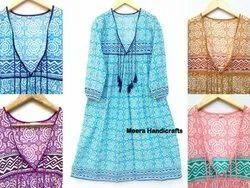 Hand Block Printed Kurtis, Dress Top Tonic