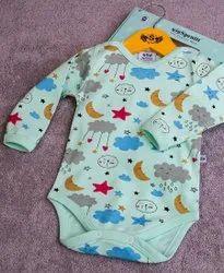 Cotton Gender: Boys New Born Baby Printed Bodysuit, Age Group: 0-1yr