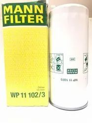 Spin On Paper Core WP11102/3 Mann Lube Oil Filter, For Volvo, Industrial