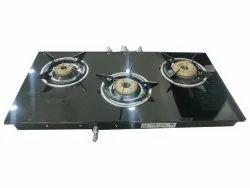 Lpg Kaff 3 Burner Gas Stove, For Home, Model Name/Number: Kc72 3b Aisssbj