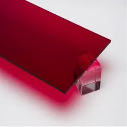 Square Red Acrylic Sheet, Thickness: 8 mm, Size: 2 X 2 Feet