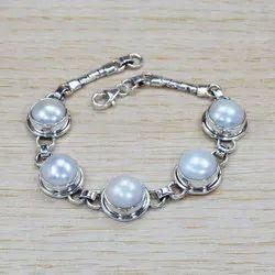 Handmade Pearl 925 Silver Bracelet Jewelry