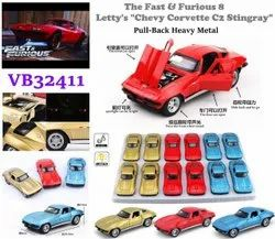 The Fast And Furious Pull Back Heavy Metal Cars Toy