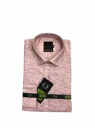 Plain Collar Neck Mens Flex Linen Formal Shirt, Handwash