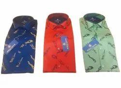 Mens Designer Printed Cotton Shirts