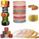 Round Plain Handmade Confetti Filled Resin Acrylic Custom Bangle Bracelet Jewelry