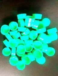 Green Water Bottle Cap 28mm Alaska Neck (Compression Cap Of Sacmi Make)