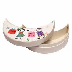 Surprise Someone Cardboard Moon Shape Paper Box, For Gift & Crafts