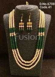 Fusion Arts Glass Beads Pearl Mala Set