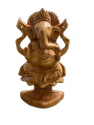 Ganesh Ji Wooden Murti 6 Inch Sitting On Sesh Naag
