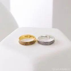 Set of 2: Half Round Rings