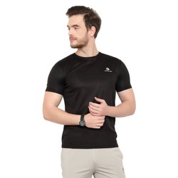 Sports/Drifit/Stretchable/Active Wear Half Sleeve Round Neck Plain T-Shirts For Men