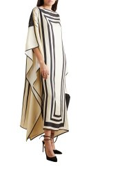 Party Wear Calf Length Free Size Women Satin Silk Printed Kaftan