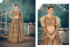 India attires Semi-stitched Bridal Wedding Lehenga