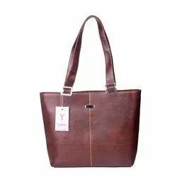 棕色皮革女士手袋W-L 17,容量:4