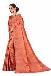 Silk Cutwork Fancy Saree