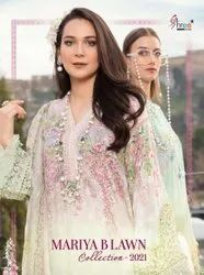 Shree Fabs Maria B Lawn Collection 2021 Lawn Print With Embroidery Pakistani Suit Catalog
