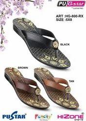 PU  Ladies Printed Formal  Slipper