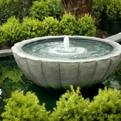 RM 3ft Black Marble Bowl Fountain, For Water Features Decoration