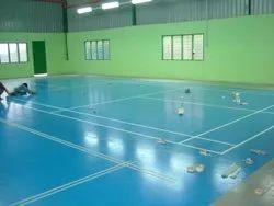 PU Badminton Court Flooring