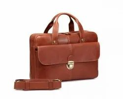 Iftekhar Brown Office masanger bag for womens as well as mens, Size: Made To Order