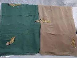Wedding Wear Embroidered Chiffon Saree