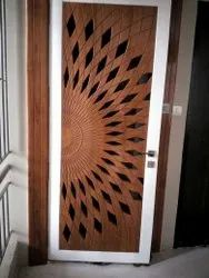 Hinged Polished Decorative PVC Door, For Home, Interior