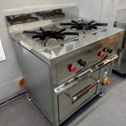 Two Burner Gas Range With Electric Oven
