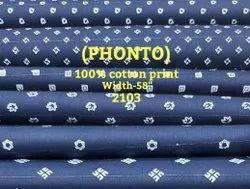 Phonto 100% Cotton Print Shirting Fabric