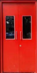 Red Coated Fire Resistant Steel Door, Thickness: 30mm, Material Grade: Is 2062