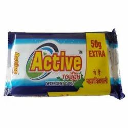 Active Touch Detergent Cake, Shape: Rectangle, Packaging Size: 200gm