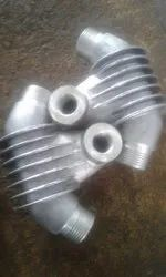 Aluminium 2HP Inter Cooler Body For Air Compressor, For Industrial