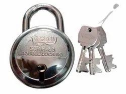 Narain With Key Star-65 Stainless Steel Round Padlock, Padlock Size: 65 mm, Chrome