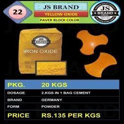Paver Block Yellow Iron Oxide
