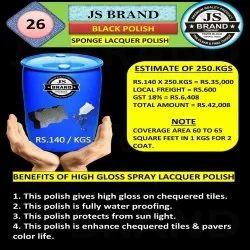 250 Kg Black Sponge Lacquer Polish