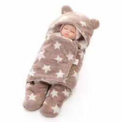Fleece Baby Blanket Safety Sleeping Grey Bag, 3-12 Months