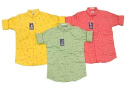 Full Sleeves Cotton Men Casual Wear Printed Shirt