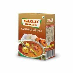 Sambar Powder SAOJI SAMBHAR MASALA, Packaging Size: 50 g, Packaging Type: Box