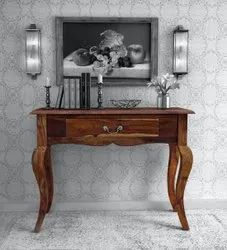 Star Interiors Brown Designer Wooden Console Table, For Home