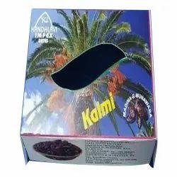 A Grade Black Kalmi Dates, Packaging Type: Box, Packaging Size: 1 kg