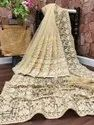 Present Net With Heavy Embroidery Work Saree