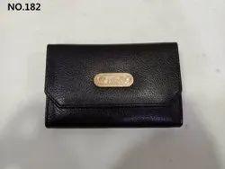 Black Regular Ladies Leather Small Wallet