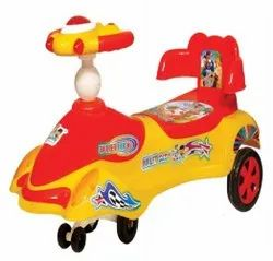 Red Yellow Plastic Magic Toy Car, For School/Play School