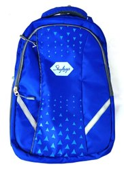 Polyester Blue School Backpack, Number Of Compartments: 3, Bag Capacity: 30 L