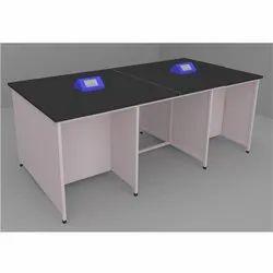 Black Labkafe CRC Sheet Pipe Frame Work Bench, Size: 2400*1200*900mm