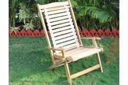 Wooden Folding High Back Chair