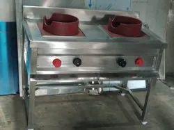 2 Burner Chinese Gas Range