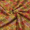 Chinon Bandhani Fabric with Embroidery