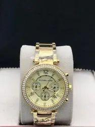 Women Formal Wear Michael Kors Ladies Watch, For Personal Use